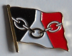 Black Country Country Flag Enamel Pin Badge